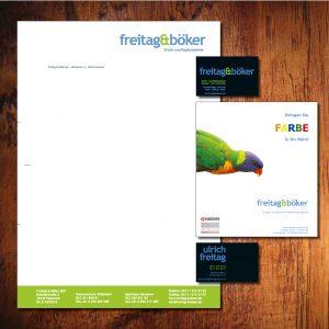 Corporate Design: Briefpapier, Visitenkarten und Anzeigen im selben Design