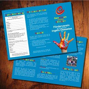 Faltblatt 6-seitig Förderverein Grundschule