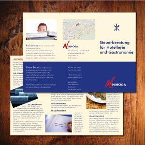 Faltblatt 6-seitig für ein auf Gastronomie spezialisiertes Steuerbüro
