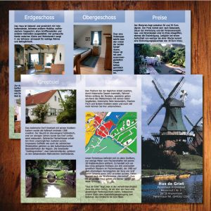 Faltblatt 6-Seitig Ferienhaus Prospekt