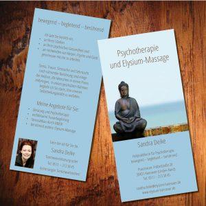 Flyer Din Lang für Psychotherapie
