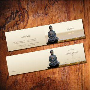 Gutschein-Karte Din Lang für Massagepraxis