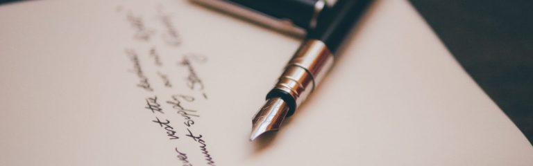 Briefe schreiben auf bedruckten Briefbögen