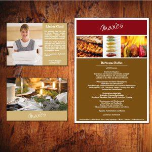 Hotel, Zimmerkarten, Postkarte und Menükarten-Einleger
