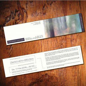 Klappkarte Einladung Galerie-Vernissage